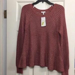 Ella Moss peplum sweater